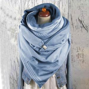 Scarves Shawls Printing-Button Soft-Wrap Warm Winter Fashion Casual Women