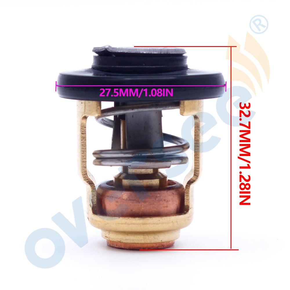 Image 2 - 66M 12411 Thermostat 60 Degrees 140F For Yamaha Mercury Honda Suzuki  4 stroke Outboard Engine  6F5 12411 03 00-in Boat Engine from Automobiles & Motorcycles