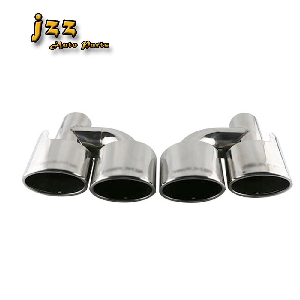 JZZ 1set Autoマツダ63mmインレット用車のデュアルエンドパイプステンレス鋼マフラーの排気管