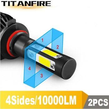TF30 New 4 Sides 3000K 6000K 8000K 100W 10000lm 9005 9006 H11 H4 H7 Car LED Headlight Bulbs Auto Led HB3 HB4 9007 HB5 Headlamps