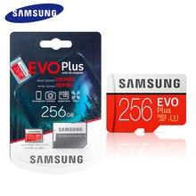 SAMSUNG-tarjeta de memoria EVO + EVO Plus, MicroSD de 256GB, 128 GB, 64GB, 32GB, Clase 10, C10, UHS-I, Trans Flash
