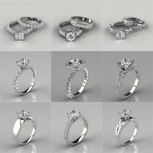 LETAPI – bague en Zircon cubique blanc AAA, ensemble de broches, pour anniversaire, fiançailles, mariage, nouvelle collection 2020
