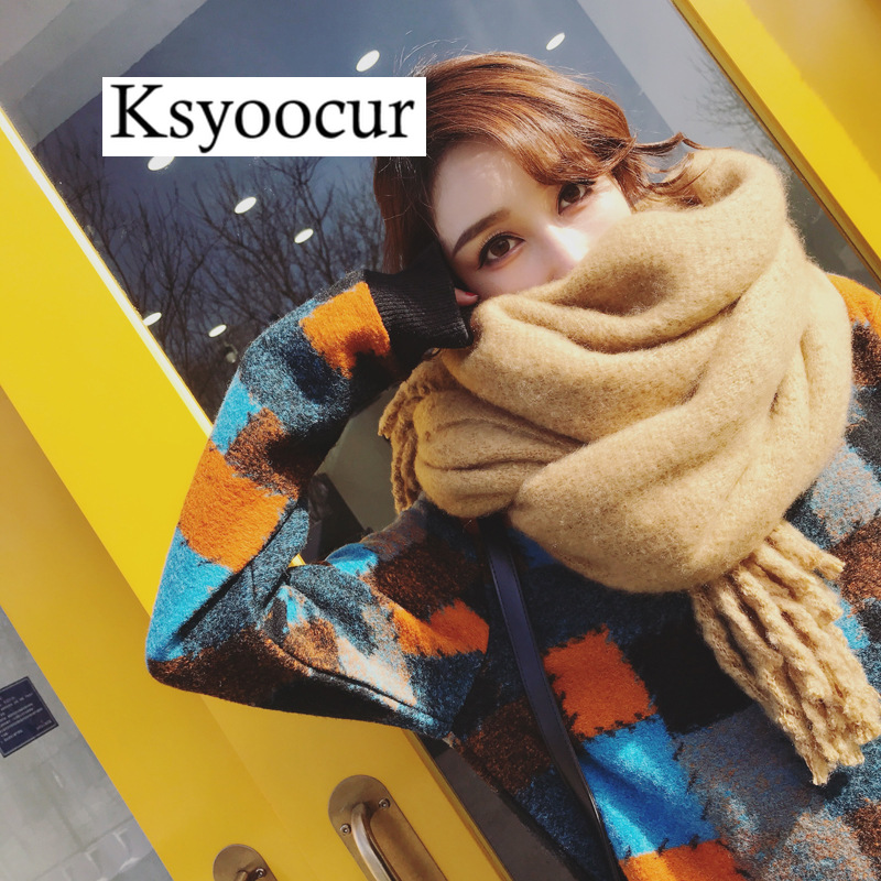 Size 200*55cm, 2020 New Autumn/Winter Long Section Cashmere Fashion Scarf Women Warm Shawls And Scarves Brand Ksyoocur E32