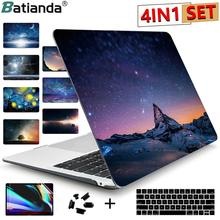 Drukuj Crystal Clear Hard Case do 2017 2018 2019 2020 nowy Macbook Pro Retina 13 15 A1706 A1989 Touch Bar Cover Air 11 13.3 cala