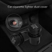 Car Charger Cigarette Lighter Plug Styling Universal Black 2 Piece/set Dust Cover