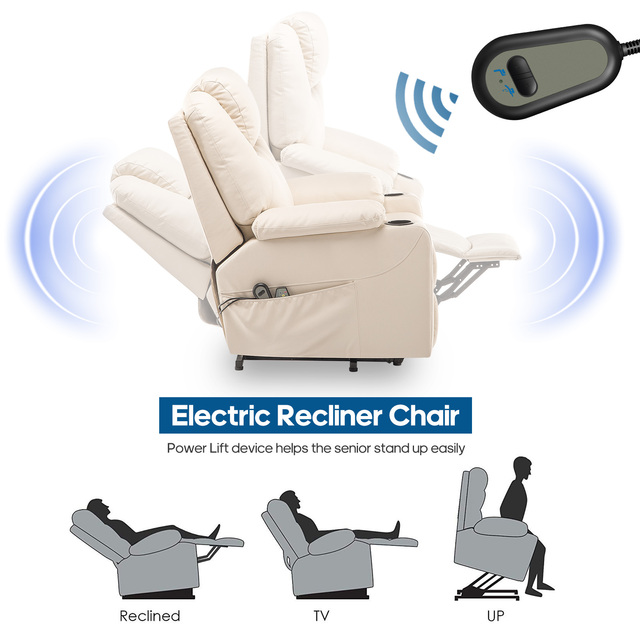 Faux Leather Reclining Chair and Electric Massage  4