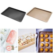 Carbon Steel Rectangle Pan Mold Baking Cookies Muffin Tray Non Stick Bakeware 6 12 holes square cupcake pan muffin tray cupcake mold muffin pan carbon steel baking pan non stick bakeware biscuit pan zxh