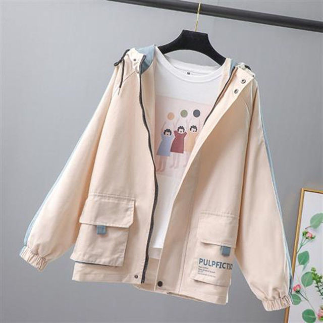 Student Jacket Tooling Female Outerwear Spring And Autumn New Women Loose Casual Top