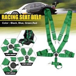Cinturón de seguridad para coche de carreras 4 5 6 puntos Bloqueo de leva correa ajustable de seguridad de carrera arnés de Nylon Universal para vehículos cinturón de seguridad de carreras
