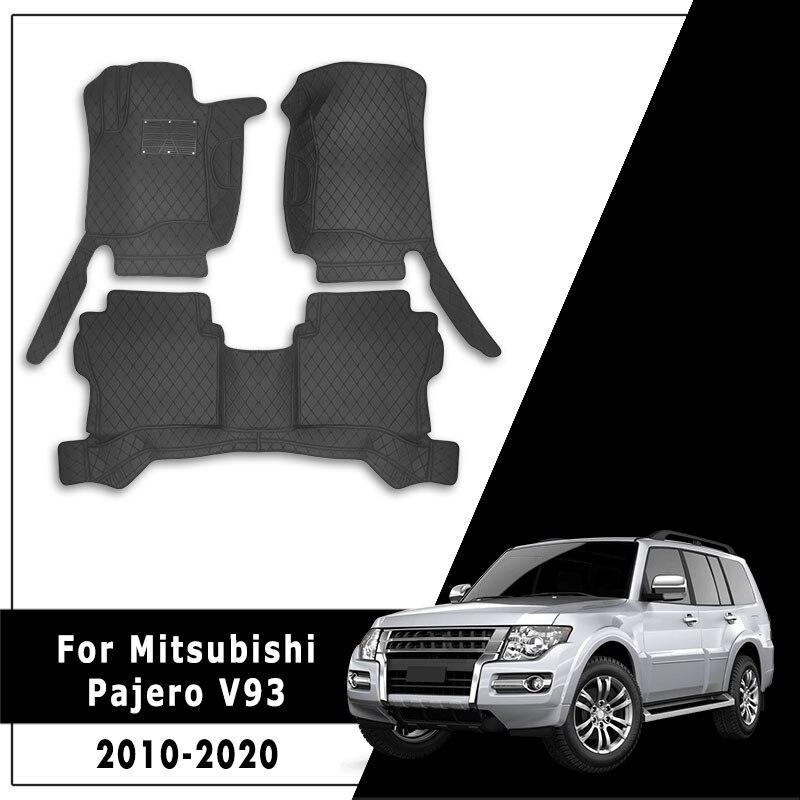 Пользовательские ковры автомобильные аксессуары автомобильные коврики для Mitsubishi Pajero V93 2010 2011 2012 2013 2014 2015 2016 2017 2018 2019 2020