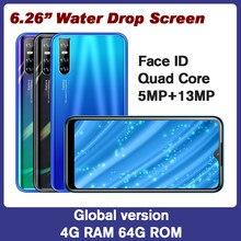 M30s smartphones Wasser Tropfen bildschirm Quad core 13MP 4G RAM 64G ROM 6.26