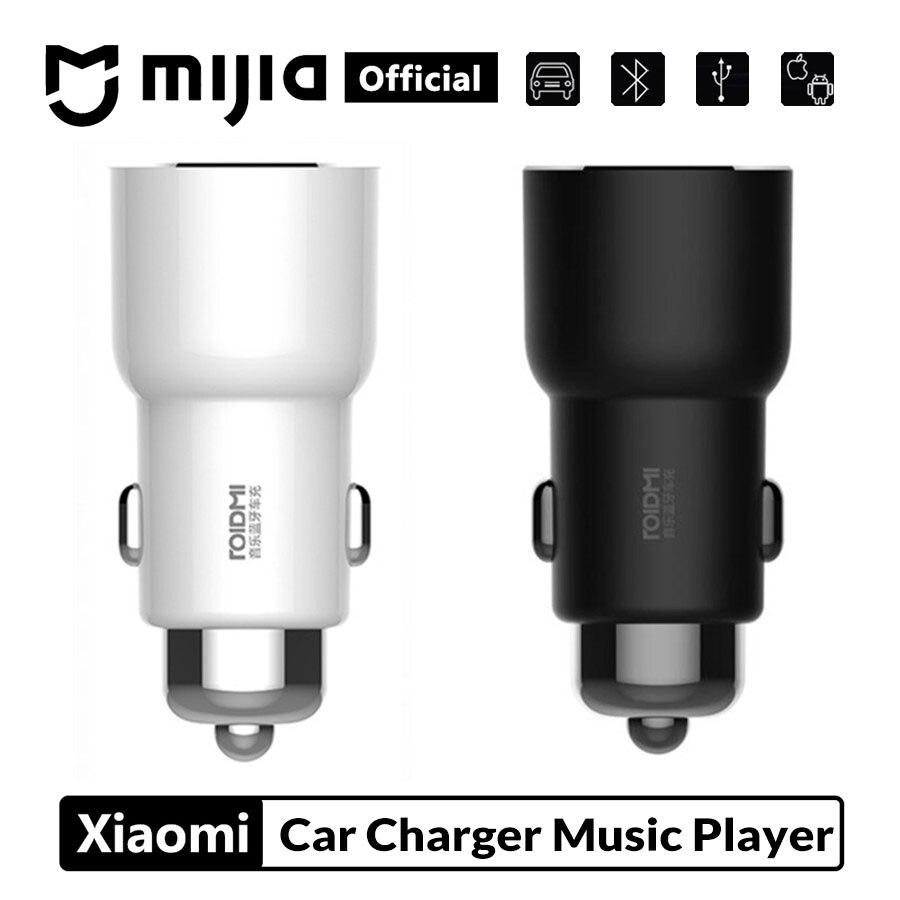 Nouveau Xiaomi ROIDMI 3S Bluetooth 5V chargeur de voiture lecteur de musique FM application intelligente pour iPhone et Android contrôle intelligent lecteur MP3 hommes cadeau