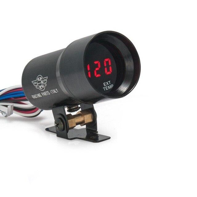 Jauge de température des gaz déchappement à lentille fumée numérique 37MM noir pour TOYOTA SUPRA JZA80 2JZ-GE NA 92-00 EP37BKEXT