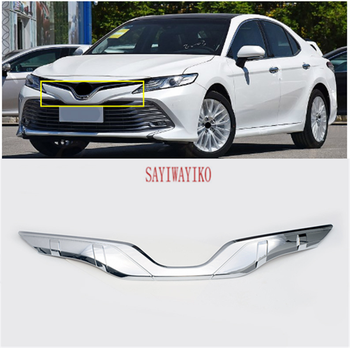 For Toyota Camry 2018 2019 Car Decoration Carbon Fiber Style Front Grille Cover Center Mesh Trim