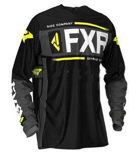 2019 New black long Sleeve Downhill Jersey Motocross Cycling Jerseys Moto GP Mountain Bike T-Shirt BMX DH FXR Cycling Clothes(China)