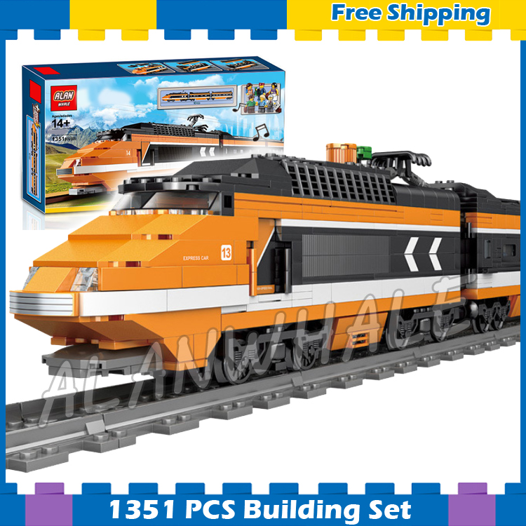 1351pcs Creator Trains High speed Horizon Express DIY 3D Model Building Blocks Children Gifts Sets Compatible With Lago image