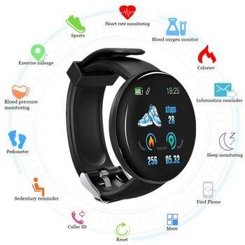 2019 Bluetooth Smart Watch Men Blood Pressure Round Smartwatch  Android Ios