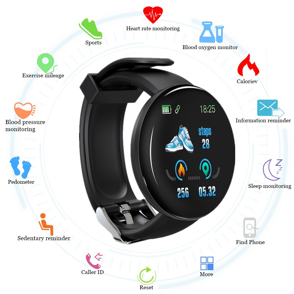 2019 Bluetooth <font><b>Smart</b></font> <font><b>Watch</b></font> Men Blood Pressure <font><b>Round</b></font> Smartwatch Women <font><b>Watch</b></font> Waterproof Sport Tracker WhatsApp For Android Ios image