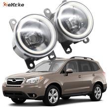 LED DRL Fog-Lights Led-Angel-Eyes Subaru Forester Daytime SJ XT Cut-Line-Lens
