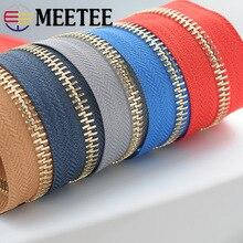 Meetee Eco-friendly 5# Metal Zippers for Sewing DIY Backpack Zip Repair Sport Coat Clothes Open-end Zipper Garment Accessories