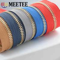 Meetee Neue 5 # Metall Reißverschlüsse für Nähen DIY Rucksack Zip Reparatur Sport Mantel Kleidung Open-end Zipper Garment zubehör