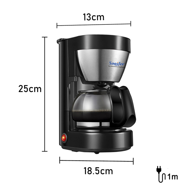 0.65L Electric Drip Coffee Maker Household Coffee Machine 6 Cup Tea Coffee Pot 220V Sonifer 4