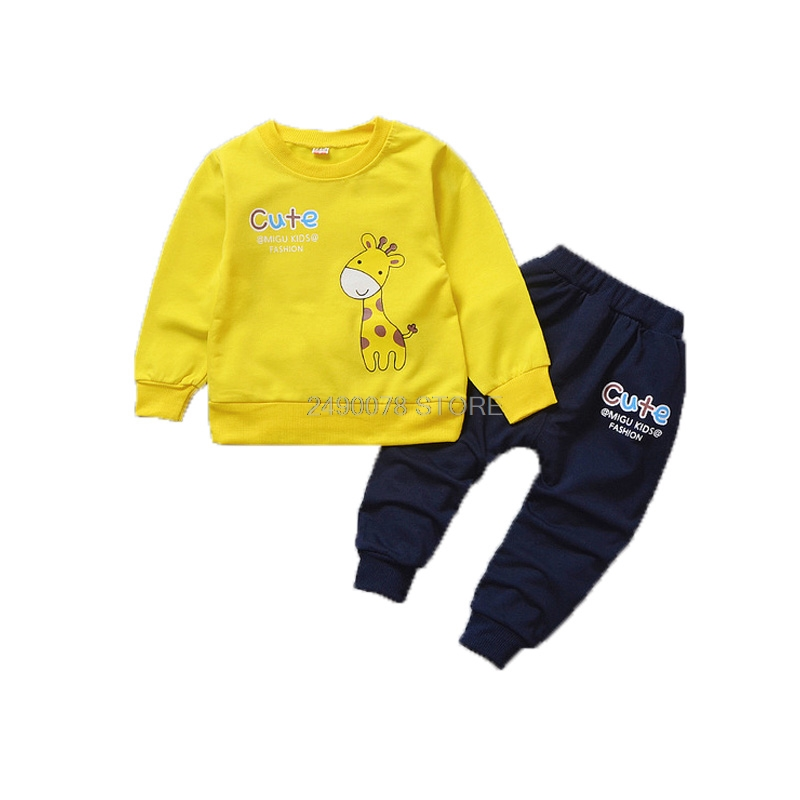 Baby Boys Girl Autumn Clothing Set Kids T shirt +Pants 2pcs Sports Tracksuit School Children Outfits Kids Birthday Gift Clothes 1