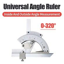 320 graus universal ângulo régua chanfrado transferidor ângulo instrumento de medição aço inoxidável ângulo régua ferramentas para trabalhar madeira