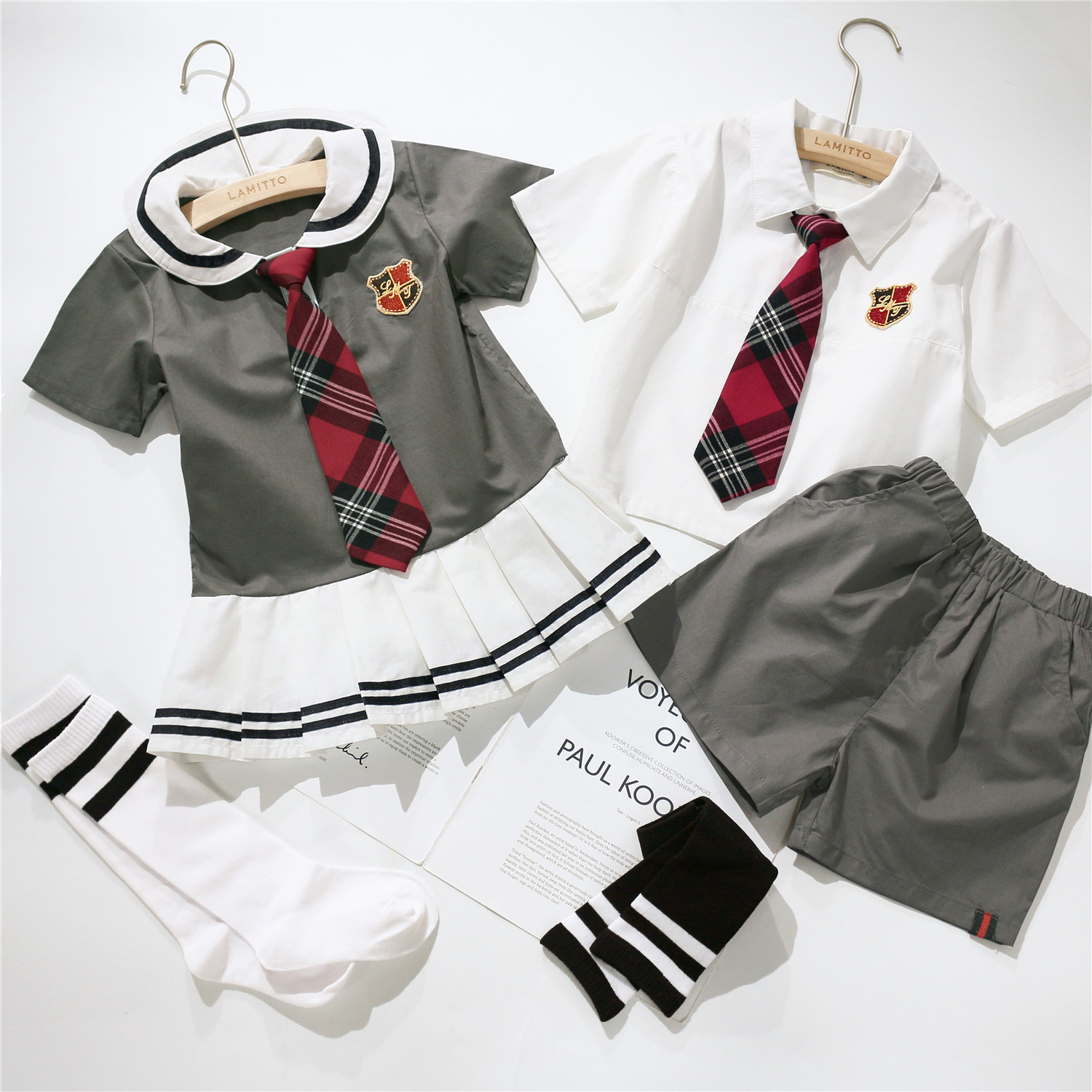 Tonytaobaby Child Models New Set College Navy Style Japanese-style School Uniform Send Tie