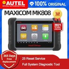 Autel MaxiCOM MK808 MX808 OBD OBDII เครื่องมือวินิจฉัย OBD2สแกนระบบเครื่องสแกนเนอร์ Autel แท็บเล็ตเครื่องสแกนเนอร์รถยนต์