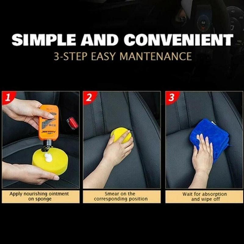 H6b16b04ef5744cc5af2203edc790b29c7 - Renovating Coating Paste Auto Leather  Decontamination Maintenance Agent Car Seat Center Console Leather Coating paste