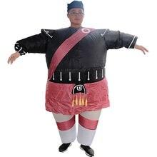 Samurai adults fat costume inflatable cartoon doll walking clothing