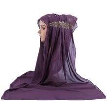 Красивые шифоновые искусственные шарфы свадебные хиджабы длинные