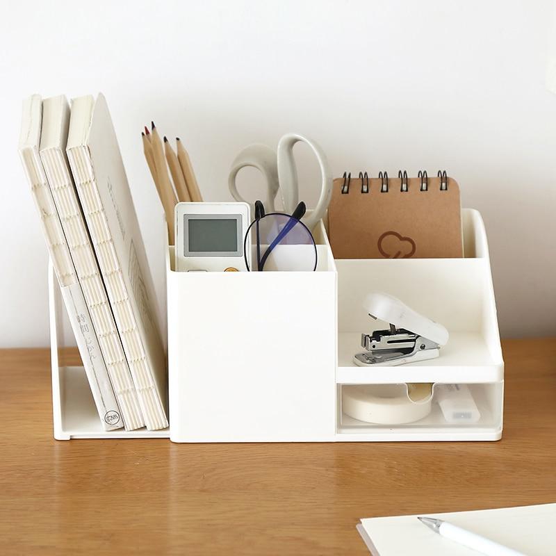 Office Shelves Drawer Organizer Storage Box Student Desktop Sundries Pen Book Stand Cosmetic Remote Control Organizer Rack