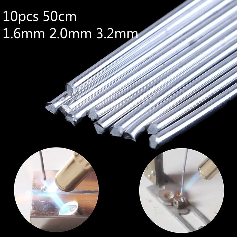 10pcs 50cm Aluminium Low Temperature Welding Soldering Brazing Rod 1.6mm 2.0mm 3.2mm