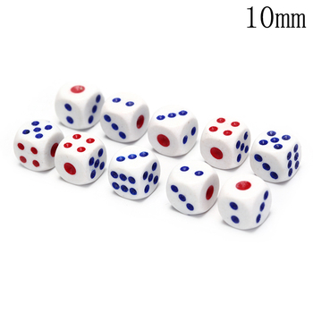 10PCS/pack Standard 10mm dice set D6 acrylic for Playing Game small dice image