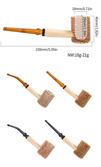 New Corn Cob Material Cigarette Tobacco Pipes Smoking Pipe Smoking Cigarette Holder Good Heat Dissipation Mouthpiece Accessories