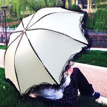 Кружево Защита от ультрафиолетовых лучей Для женщин мужчин зонтик