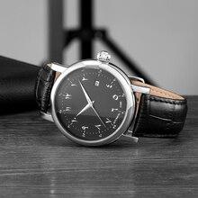 Islamski zegarek automatyczny mechanizm samoczynnego wiatru luksusowy męski zegarek mechaniczny ruch zegarki wodoodporne męskie