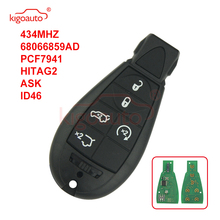 цена на Kigoauto #7 68066859AD Caliber,Grand Cherokee Fobik key remote 5 button 434Mhz for Chrysler European model