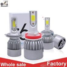 цена на FUXUAN 2 Pcs Car Lights Bulbs LED H4 H7 9003 HB2 H11 LED H1 H3 H8 H9 880 9005 9006 H13 881 9007 Auto Headlights 12V Led Light