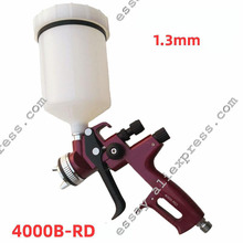 High atomizing air pneumatic pistol  4000B-RD HVLP  Painting Spray Gun with 1.3 nozzle and 600ml tank