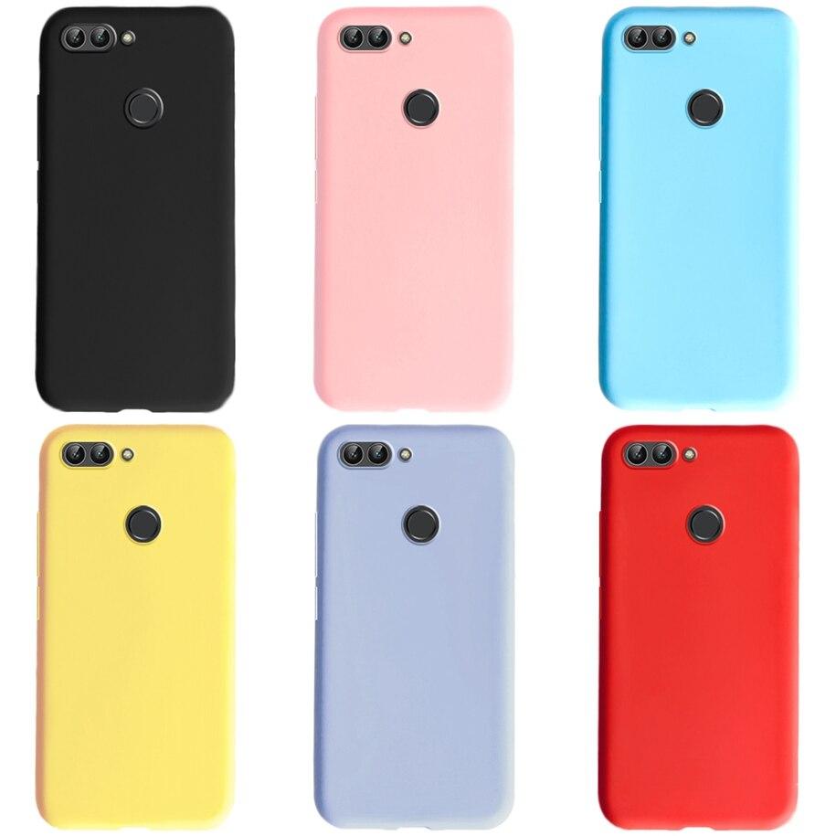 Dla Huawei P inteligentny futerał silikonowy zwykły kolor śliczny telefon pokrywa dla Fundas Huawei P Smart 2018 2017 PSmart FIG-LX1 przypadki 5.65 cala