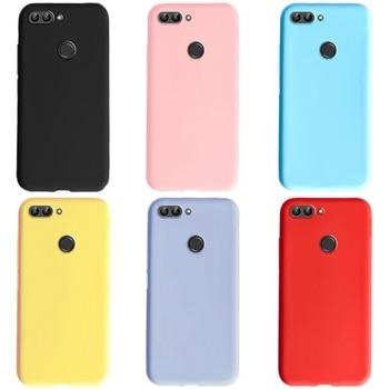 Für Huawei P Smart Fall Silikon Plain Farbe Nette Telefon Abdeckung Für Fundas Huawei P Smart 2018 2017 PSmart FIG-LX1 fällen 5,65 zoll