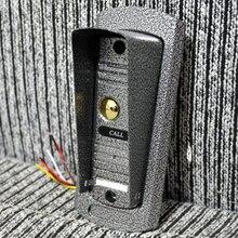 Металлическая камера для дверного телефона, проводной видеодомофон с 4 проводами и кабелем