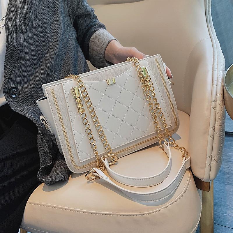 Retro Women Shoulder Crossbody Bags 2021 Handbags Luxury DesignDiamond Lattice Ladies Messenger Bag Female Purses