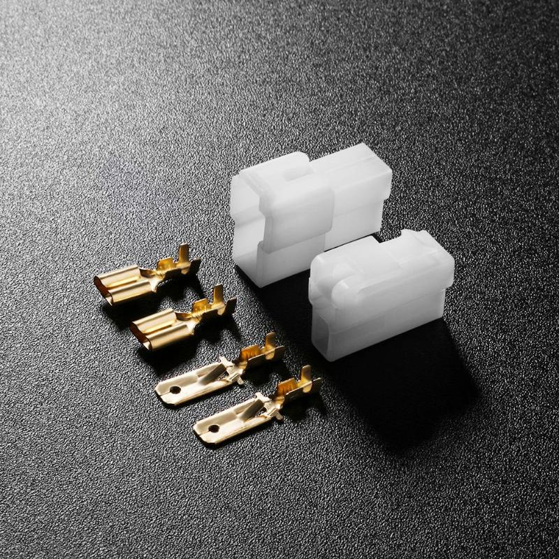 Usual T-Type 2 Pin DC Power Male Female Metal Connectors Power Plug For Kenwood Yaesu Icom RadioWalkie Talkie