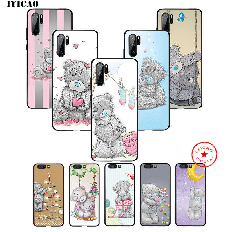 IYICAO Tatty Teddy Bär Weiche Fall für Huawei P30 P20 P10 P9 P8 2017 2016 2015 P Smart Z Plus 2019 Mate 20 10 Lite Pro Mini