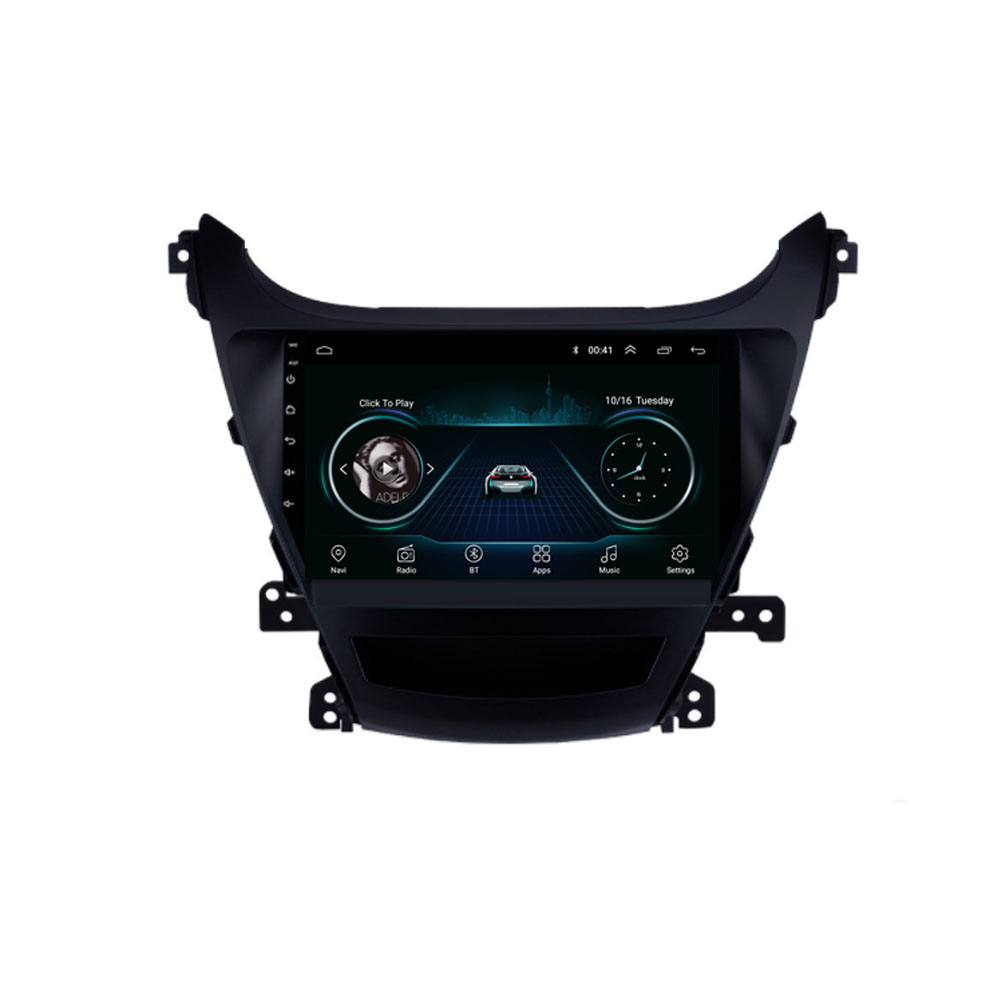 Quad core Android 8.1 Für <font><b>HYUNDAI</b></font> <font><b>ELANTRA</b></font> Avante 2011 2012 2013 2014 2015 Multimedia Stereo Auto DVD Player Navigation GPS Radio image