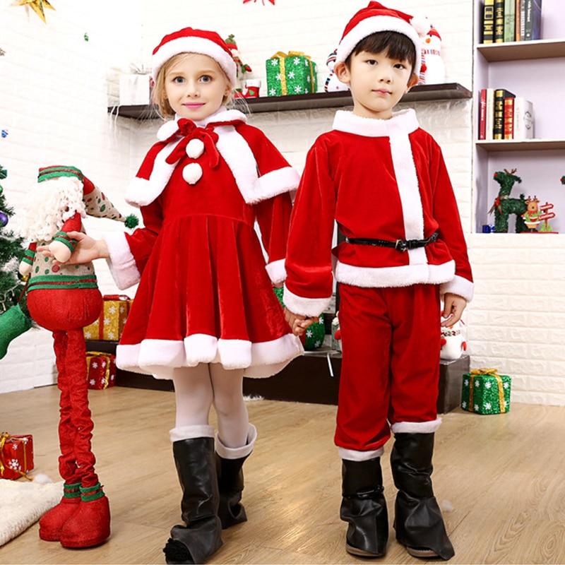 Children's Christmas Clothes Girl's Christmas Performance Clothes Santa Suit Christmas Gift Bag